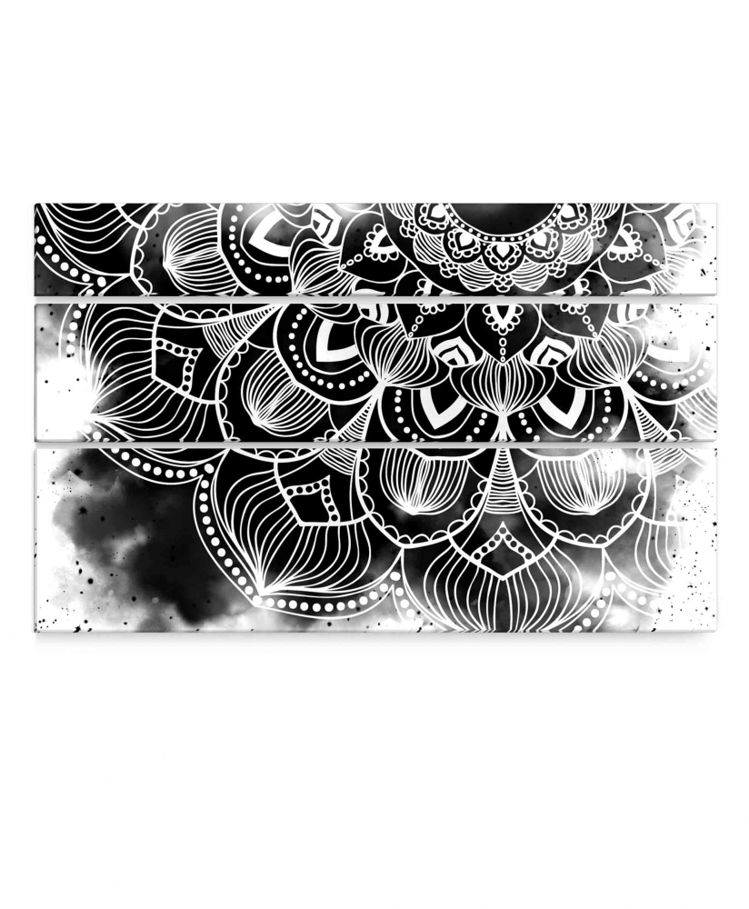 Obraz Atypická černobílá mandala, 150x90 cm