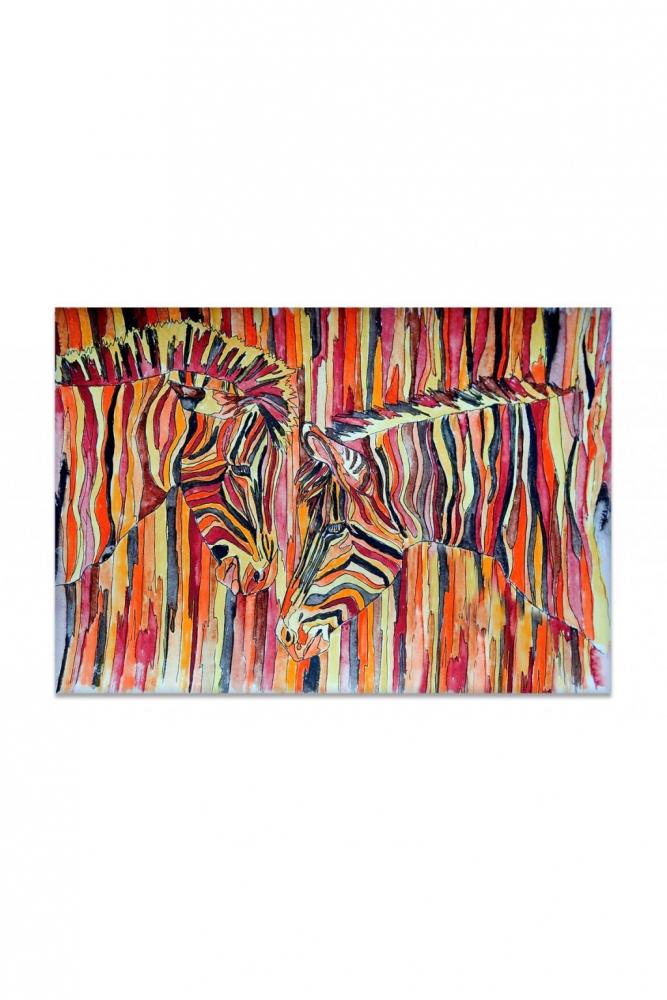 Obraz Barevné zebry, 90x60 cm
