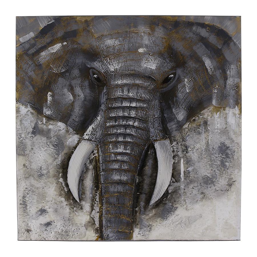 Obraz Big Elephant 80x80 cm, olej na plátně