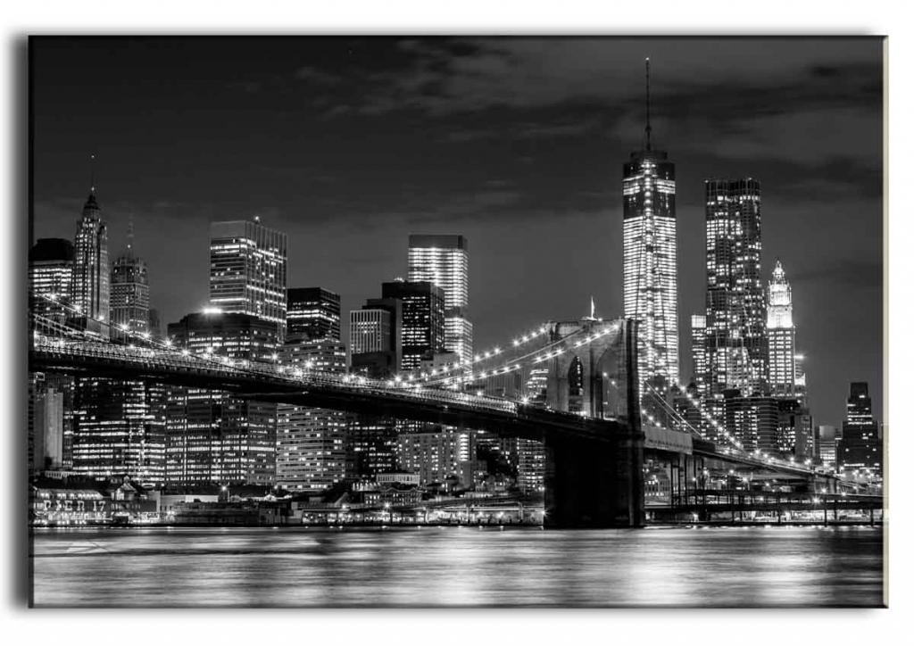 Obraz Brooklyn bridge Manhattan, 150x100 cm