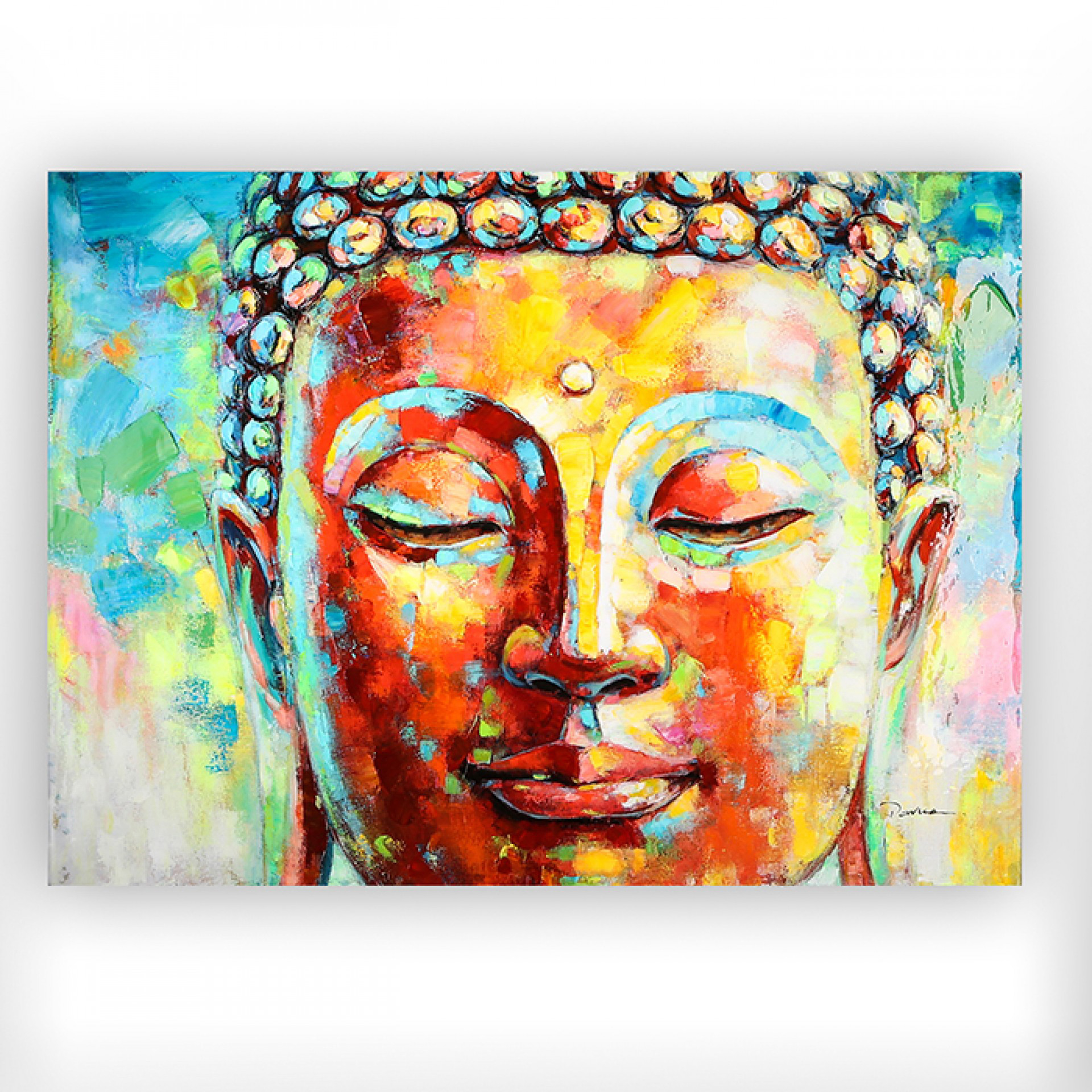 Obraz Buddha, 120 cm, akryl na plátně