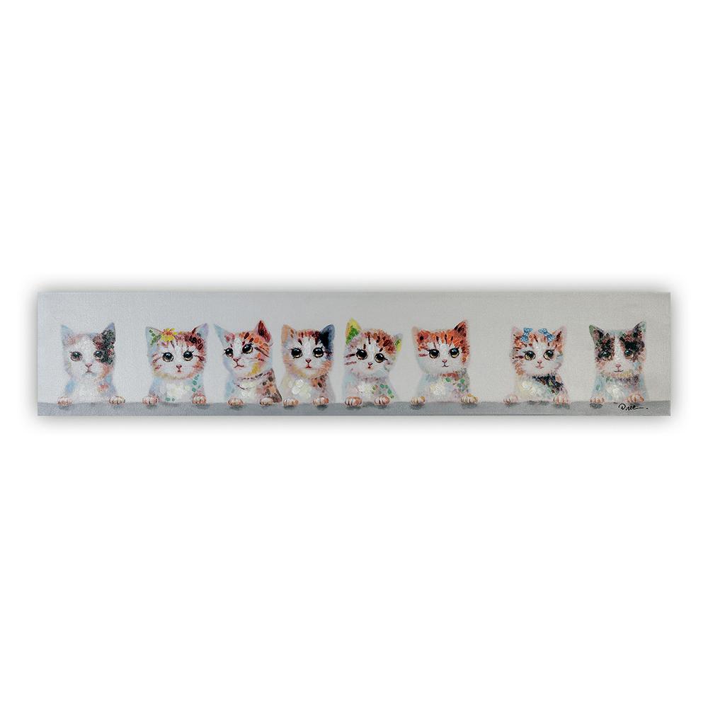 Obraz Cats 150 cm, olej na plátně
