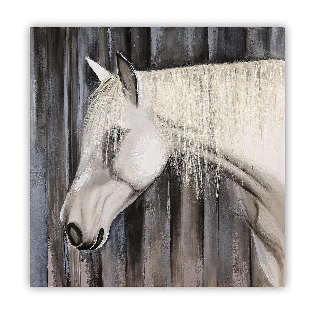 Obraz Cavallo se sisalovou hřívou 100 cm, olej na plátně