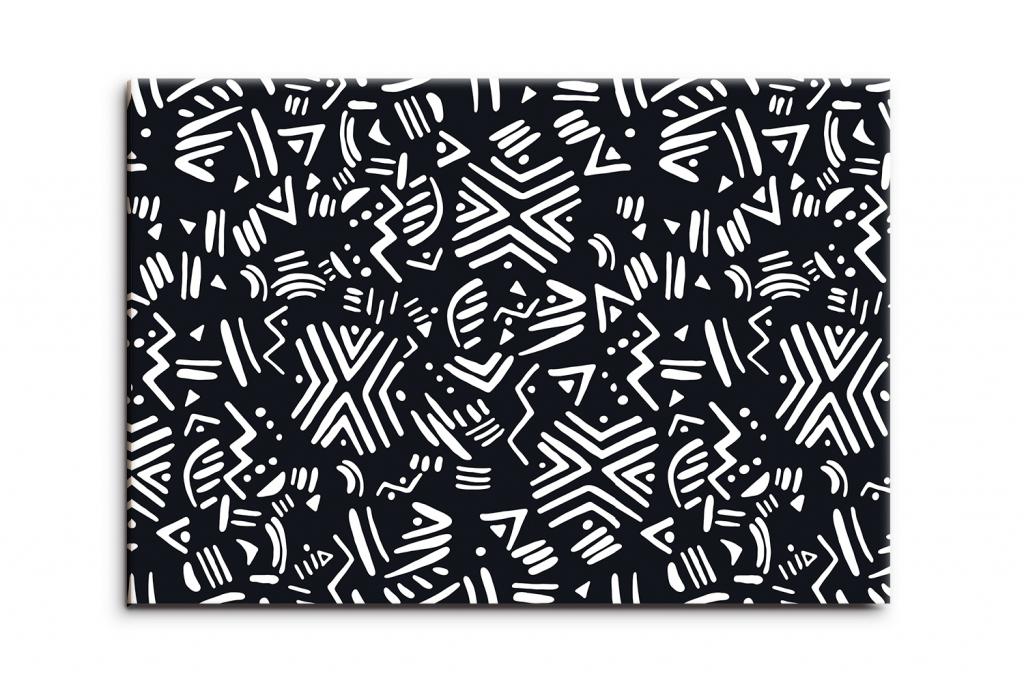 Obraz Černobílá abstrakce, 90x60 cm