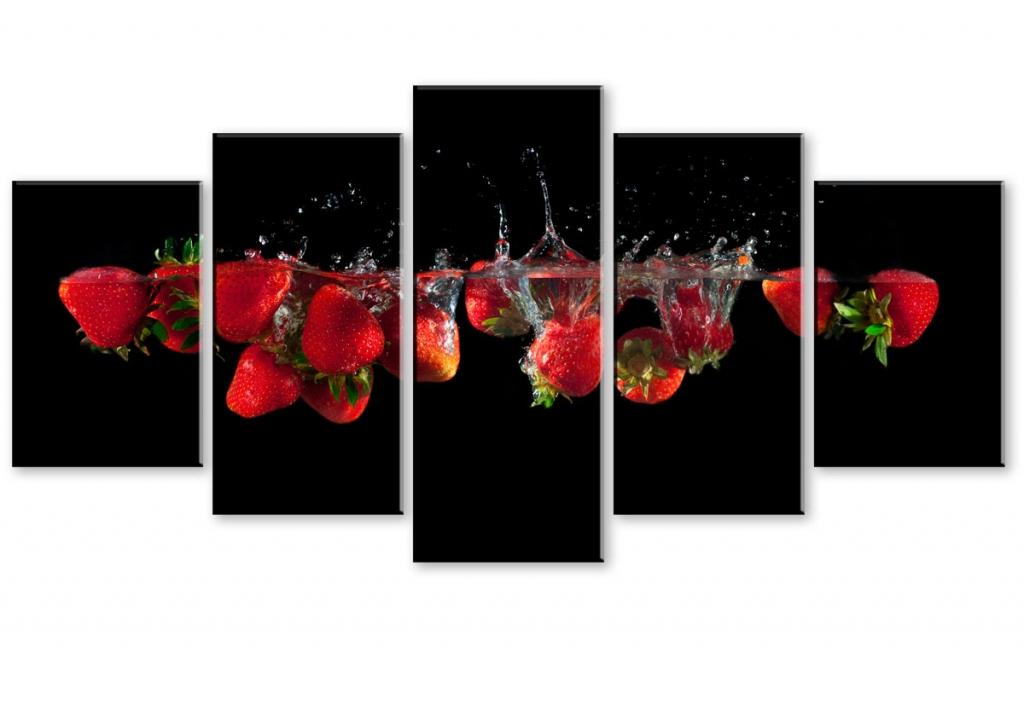 Obraz Červené jahody, 200x100 cm