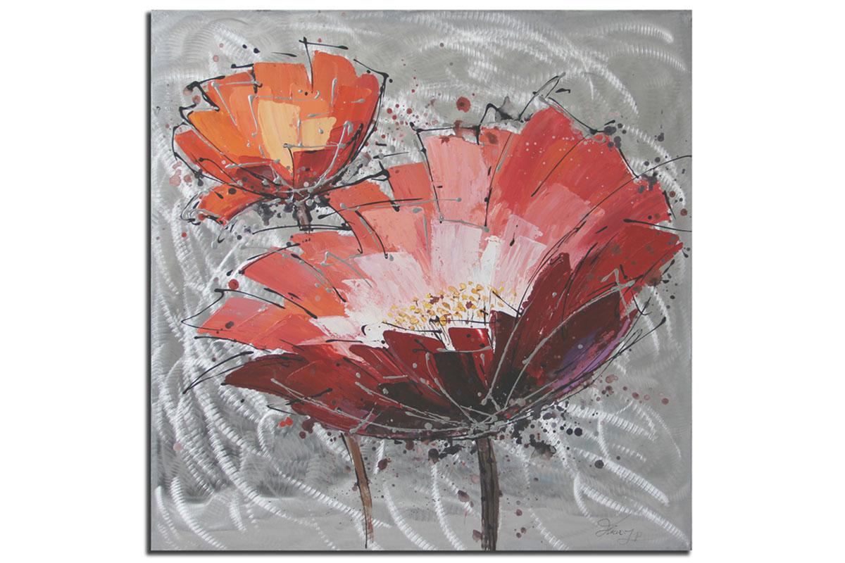 Obraz Červený květ, 100 cm, olej na plátně