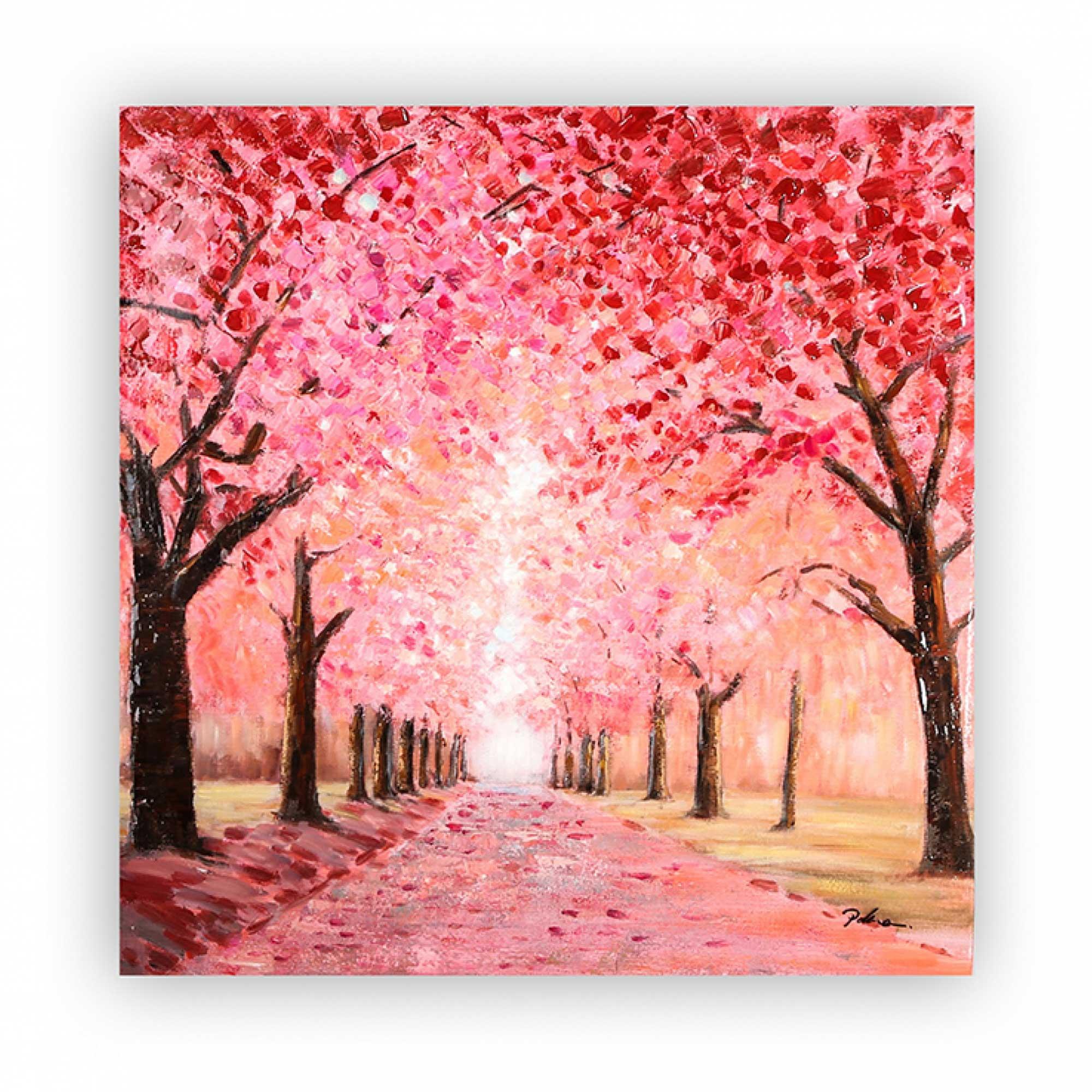 Obraz Cherry Boulevard, 100 cm, akryl na plátně
