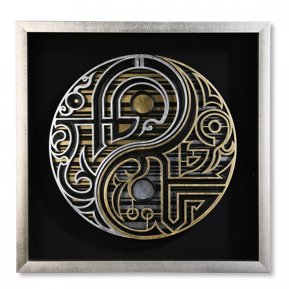 Obraz Dao, 60 cm, černá