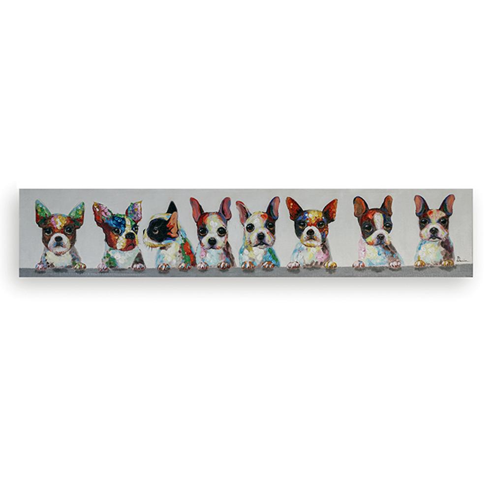 Obraz Dogs 150 cm, olej na plátně