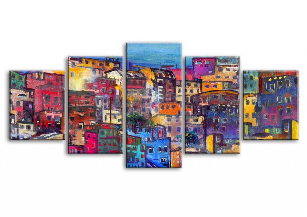 Obraz Domečky, 150x70 cm