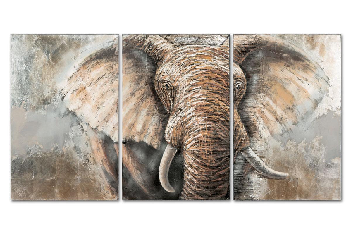 Obraz Elephant, 195 cm, olej na plátně