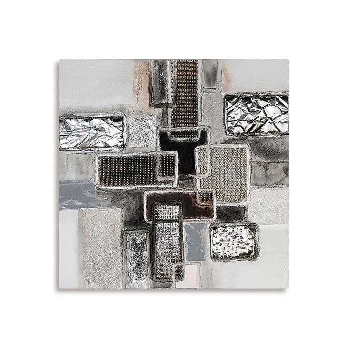 Obraz Falling Cubes 90x90 cm, olej na plátně