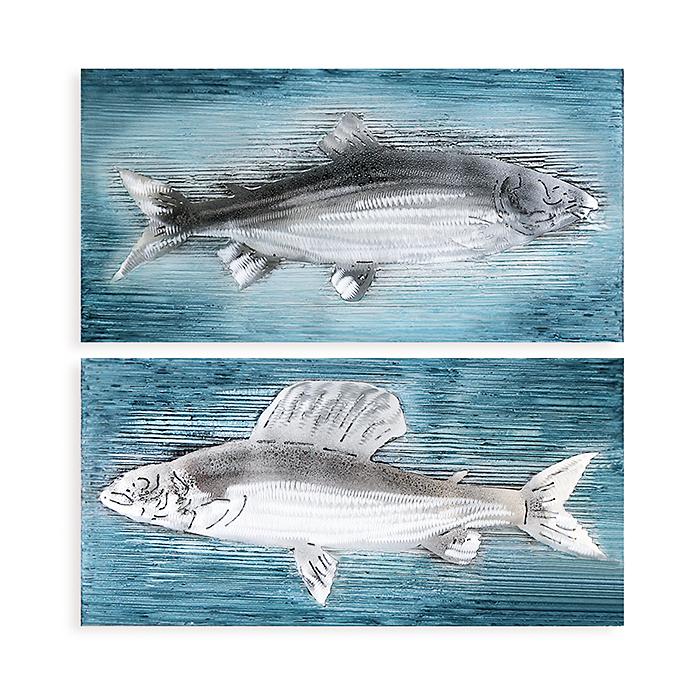 Obraz Fishes 80 cm, olej na plátně, sada 2 ks