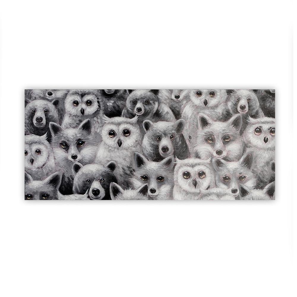Obraz Forest Animals 110 cm, olej na plátně
