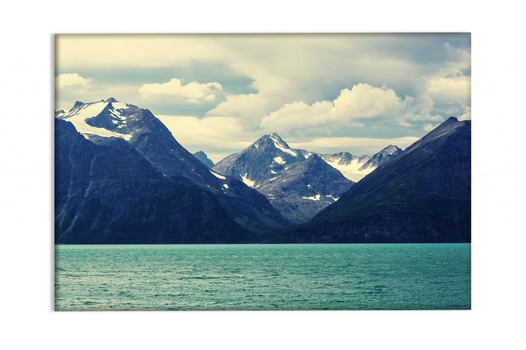 Obraz Hory a jezero, 60x40 cm