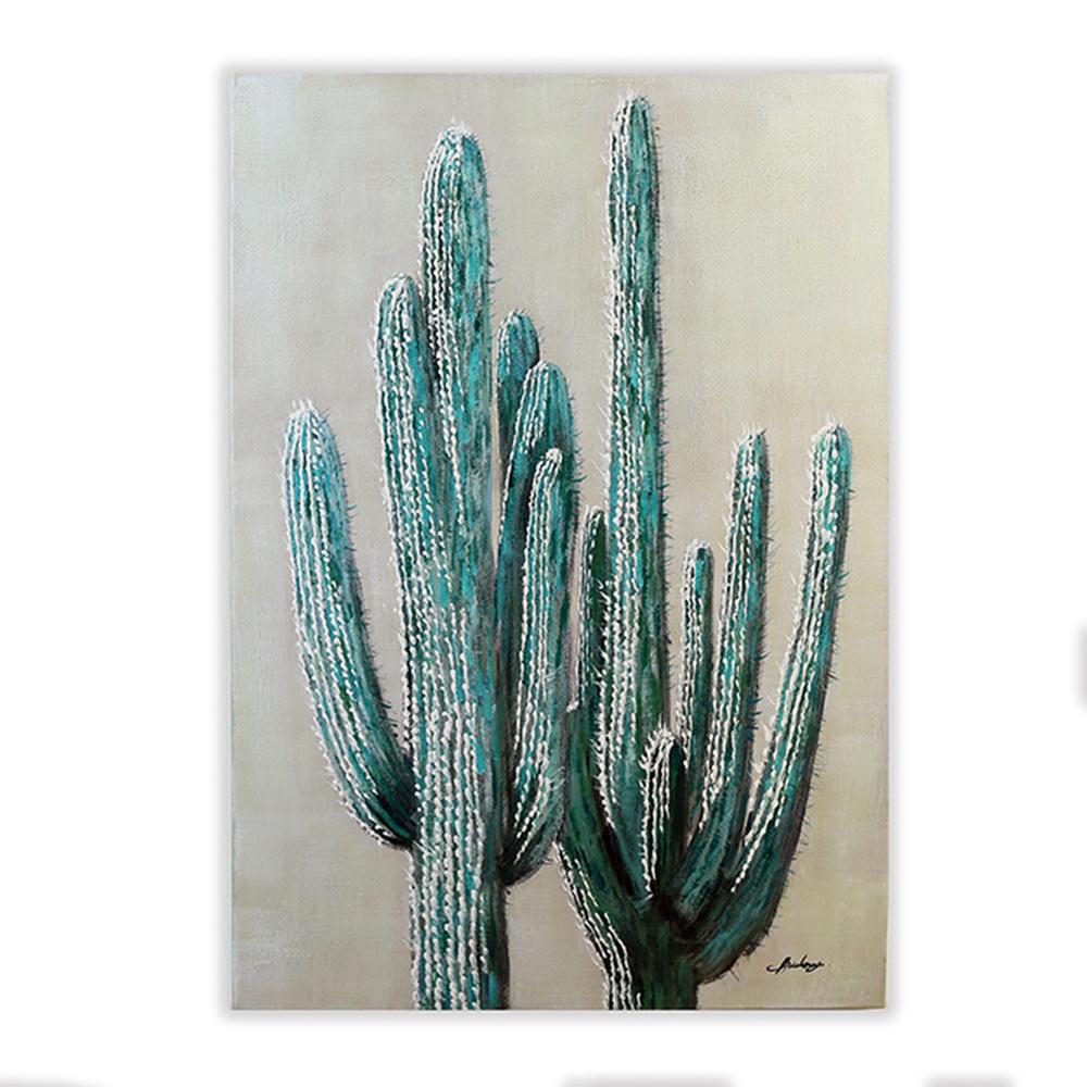 Obraz Kaktus 100 cm, olej na plátně