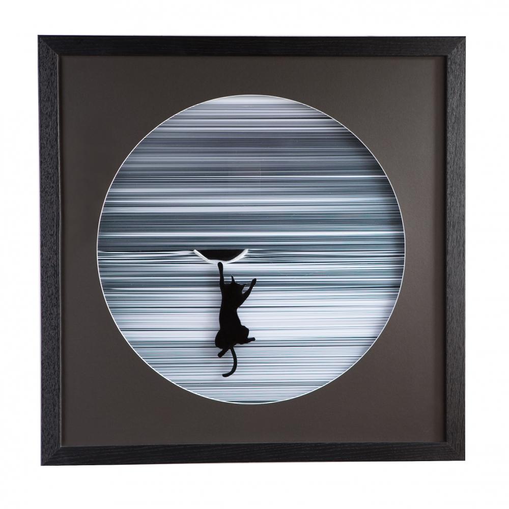 Obraz Kitty, 60 cm, černá / bílá