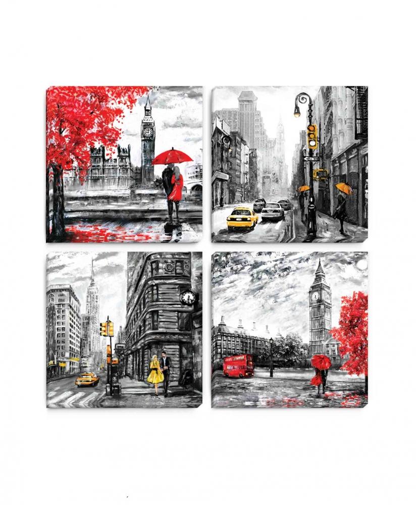 Obraz Krásy velkoměsta I, 40x40 cm