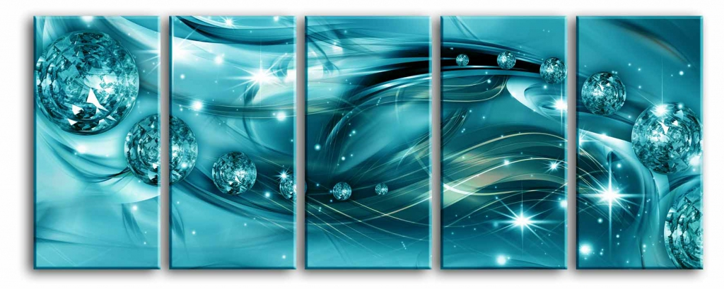 Obraz Ledový hvězdný prach, 125x50 cm