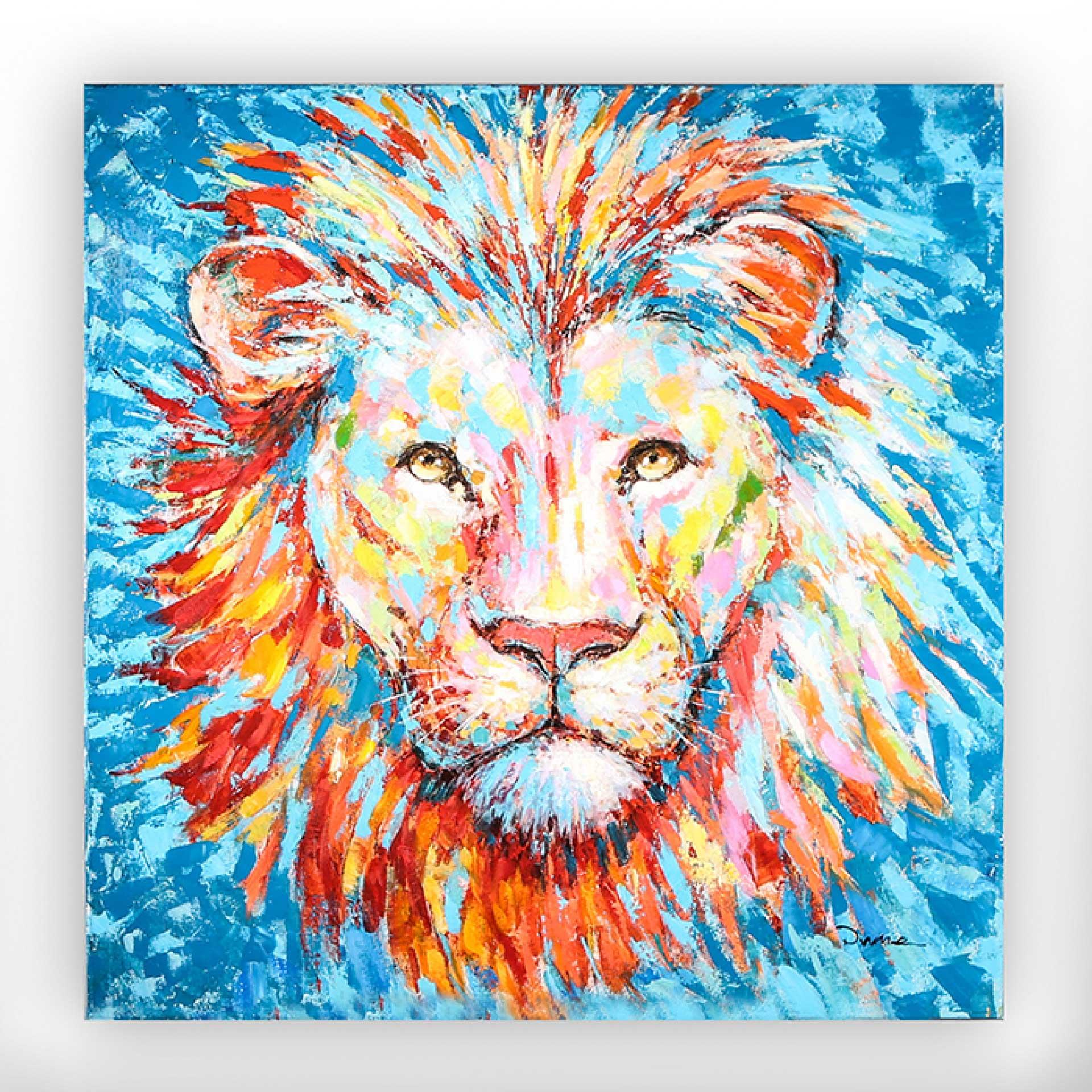 Obraz Lion, 90 cm, akryl na plátně