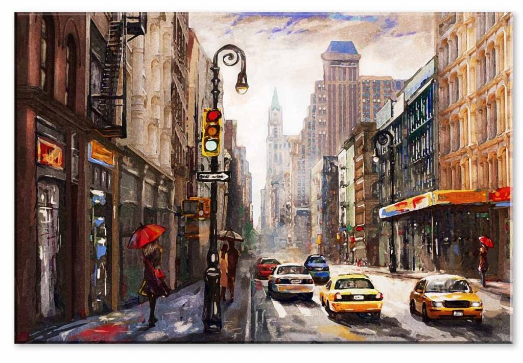 Obraz Malovaná ulice, 150x100 cm