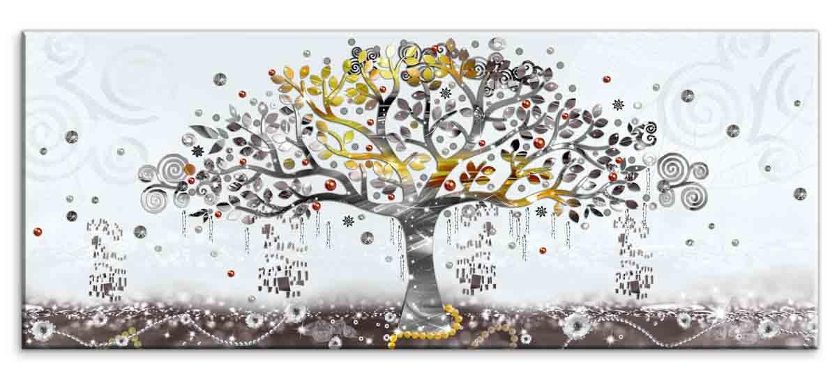 Obraz Malovaný abstraktní strom, 100x40 cm
