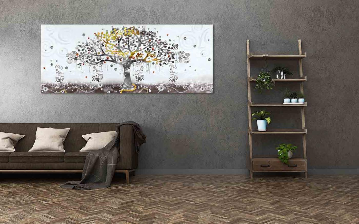 Obraz Malovaný abstraktní strom, 50x20 cm
