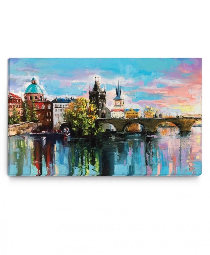 Obraz Malovaný Karlův most, 45x30 cm