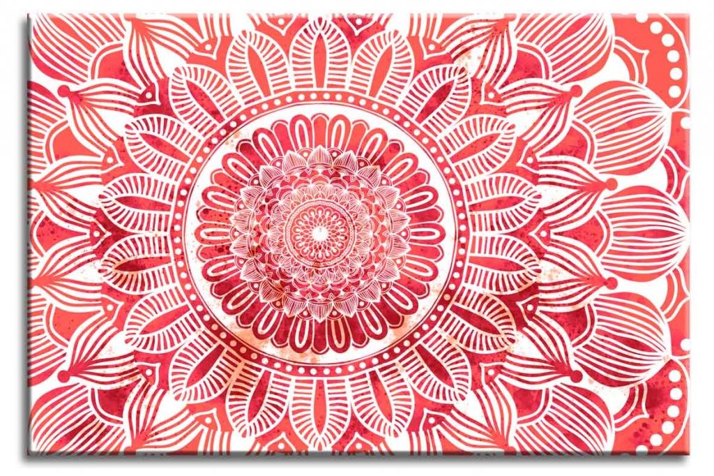Obraz Mandala červené slunce, 120x80 cm