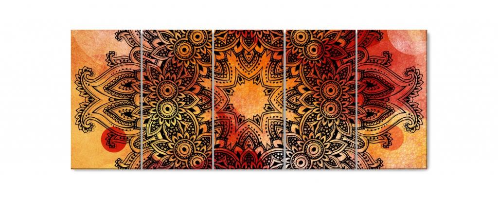 Obraz Mandala na akvarelu V, 150x60 cm