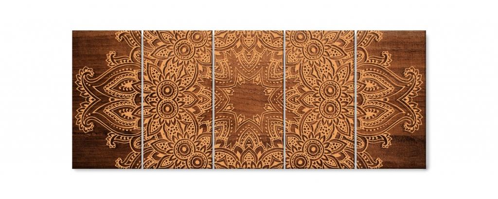 Obraz Mandala na dřevě, 150x60 cm
