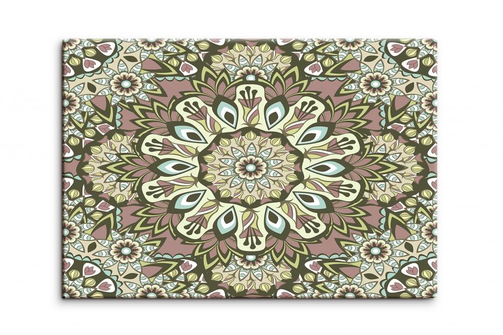 Obraz Mandala s květovými vzory, 90x60cm