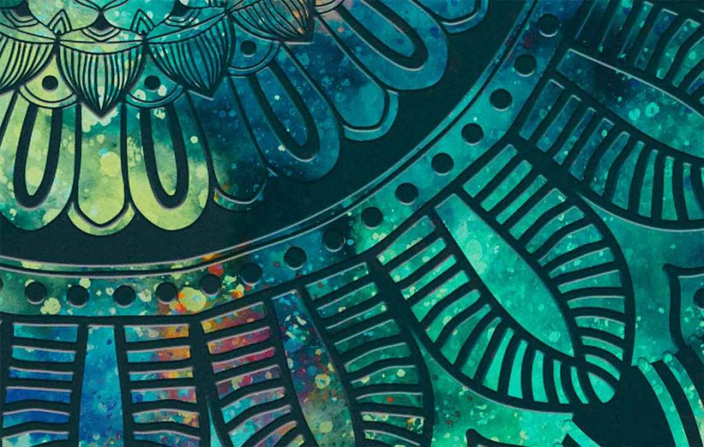 Obraz Mandala tyrkysové dění, 150x80 cm