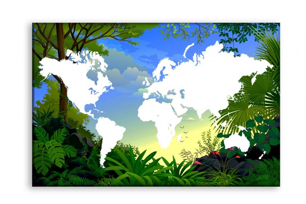 Obraz Mapa světa, 150x100 cm