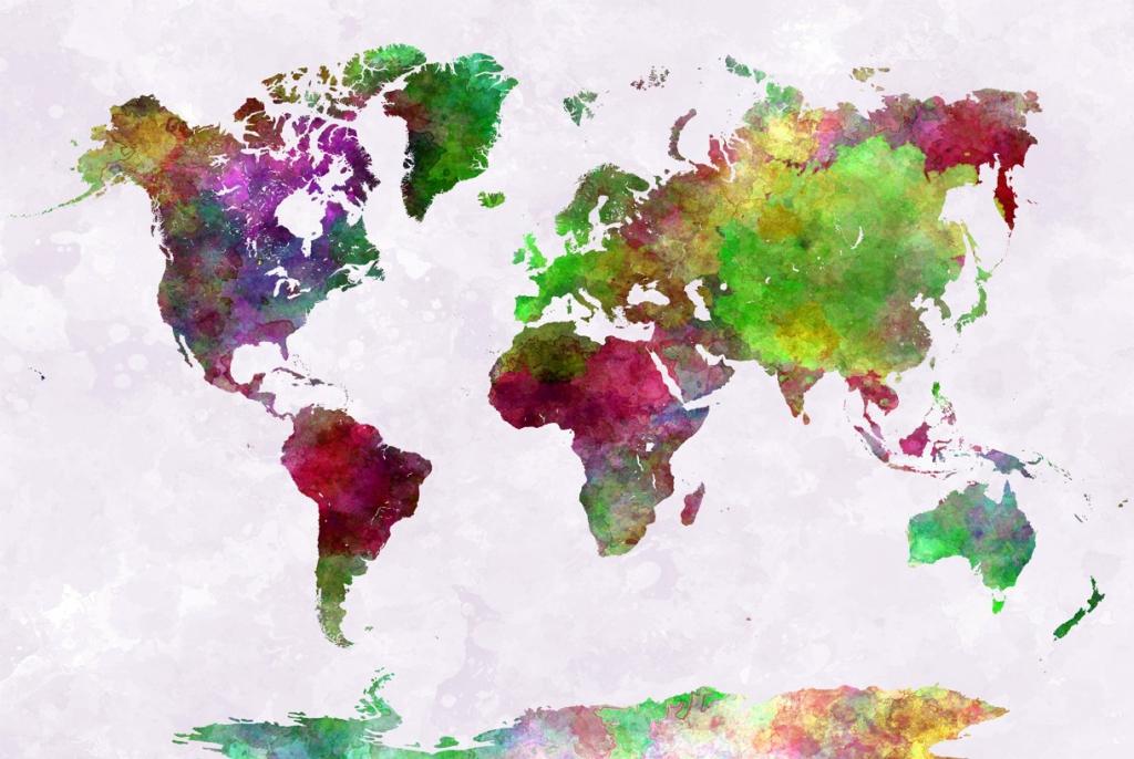 Obraz Mapa světa I, 120x80 cm