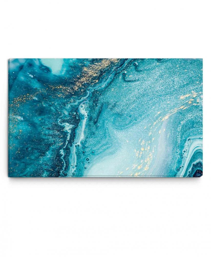 Obraz Modrá abstrakce, 150x100 cm