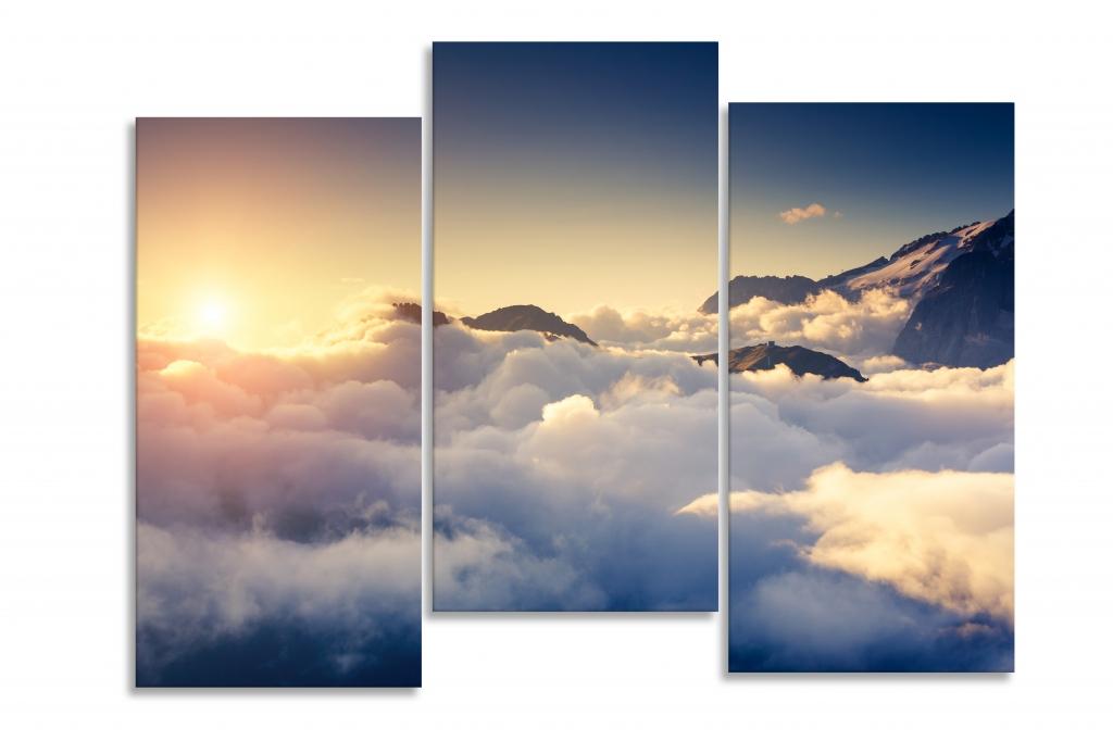 Obraz Mraky se západem slunce, 120x80 cm