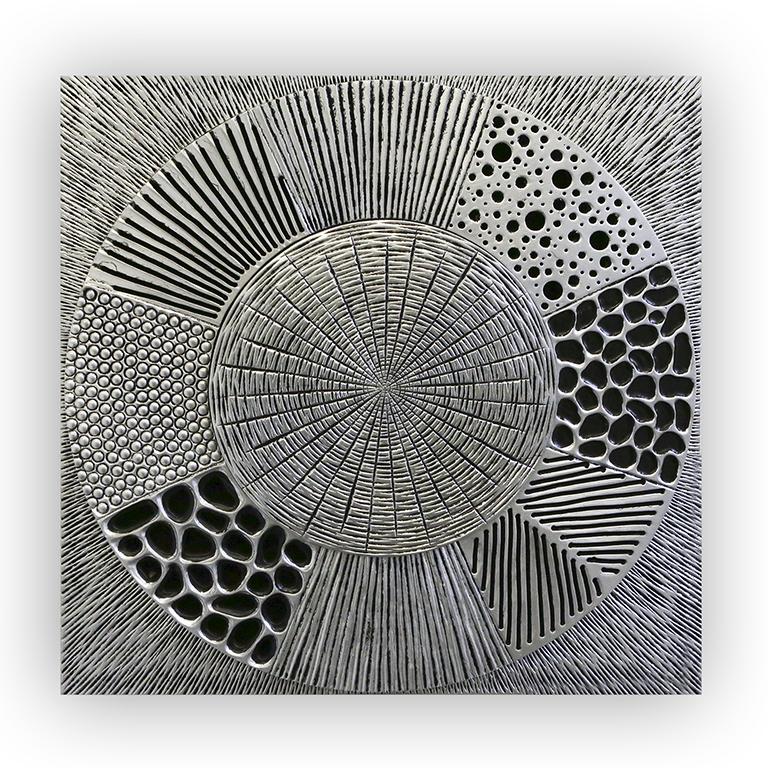 Obraz Mysty, 80 cm, černá / stříbrná