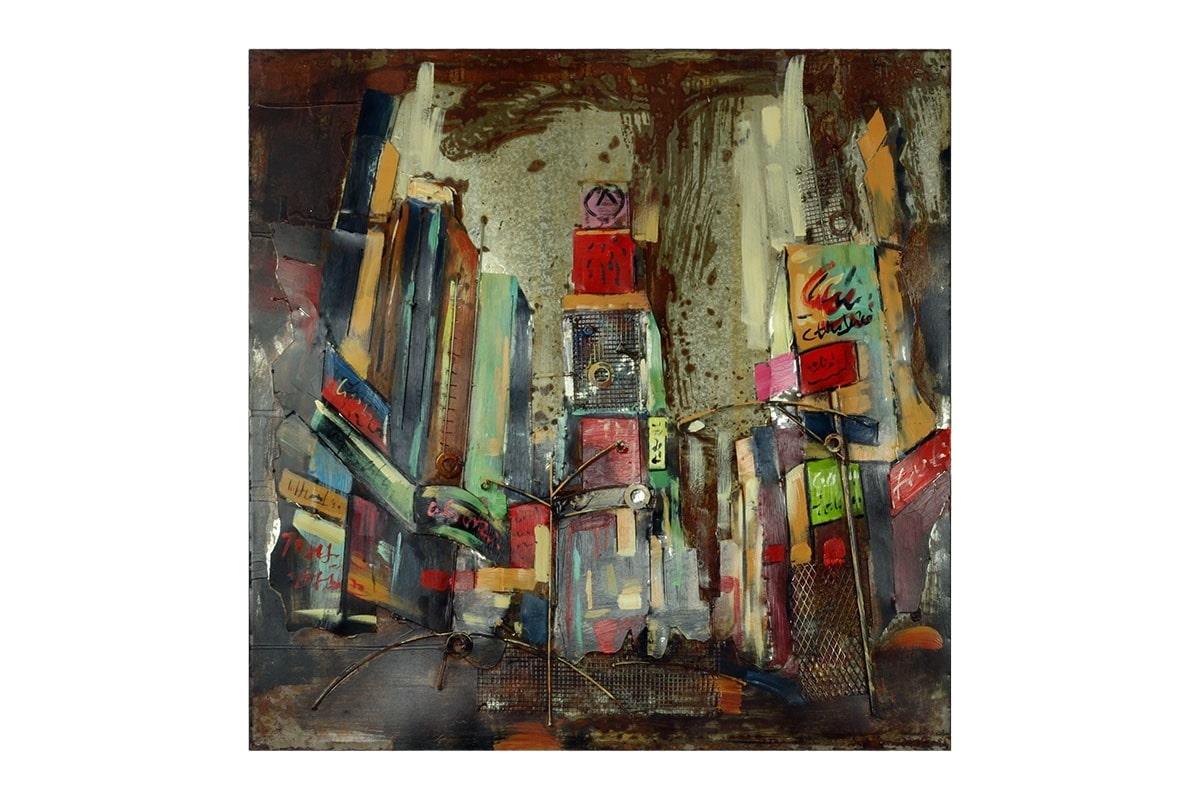 Obraz New York na kovu, 100 cm, olej na plátně