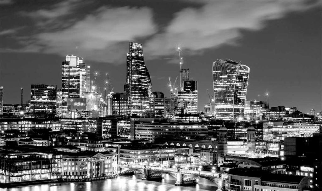 Obraz Noční Londýn, 150x90 cm
