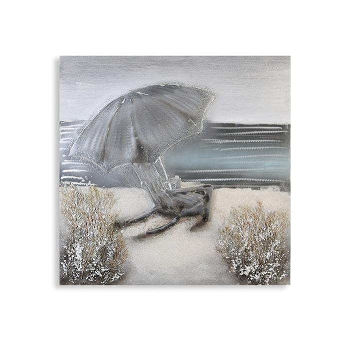 Obraz Pláž 80x80 cm, olej na plátně