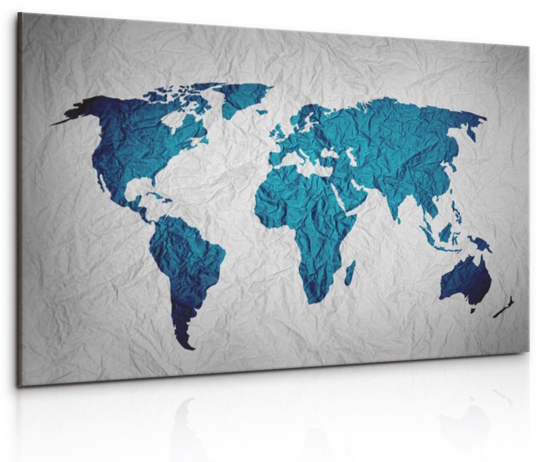 Obraz Pokrčená mapa, 60x40 cm