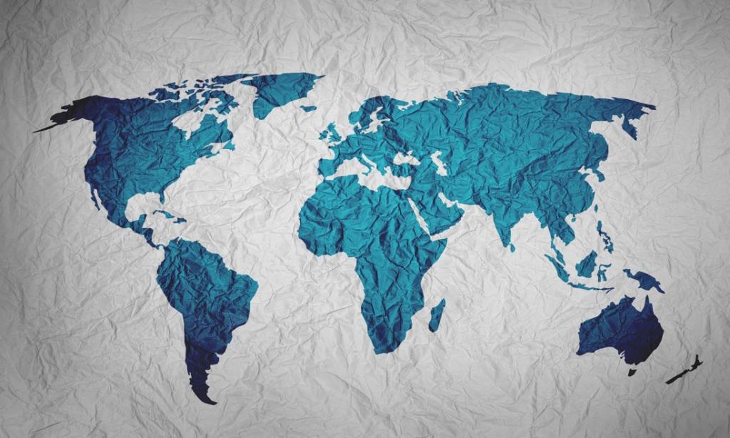 Obraz Pokrčená mapa, 90x60 cm