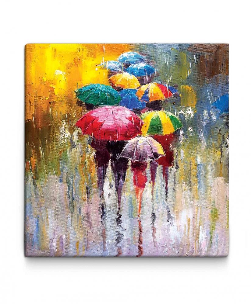 Obraz Procházka v dešti, 90x110 cm