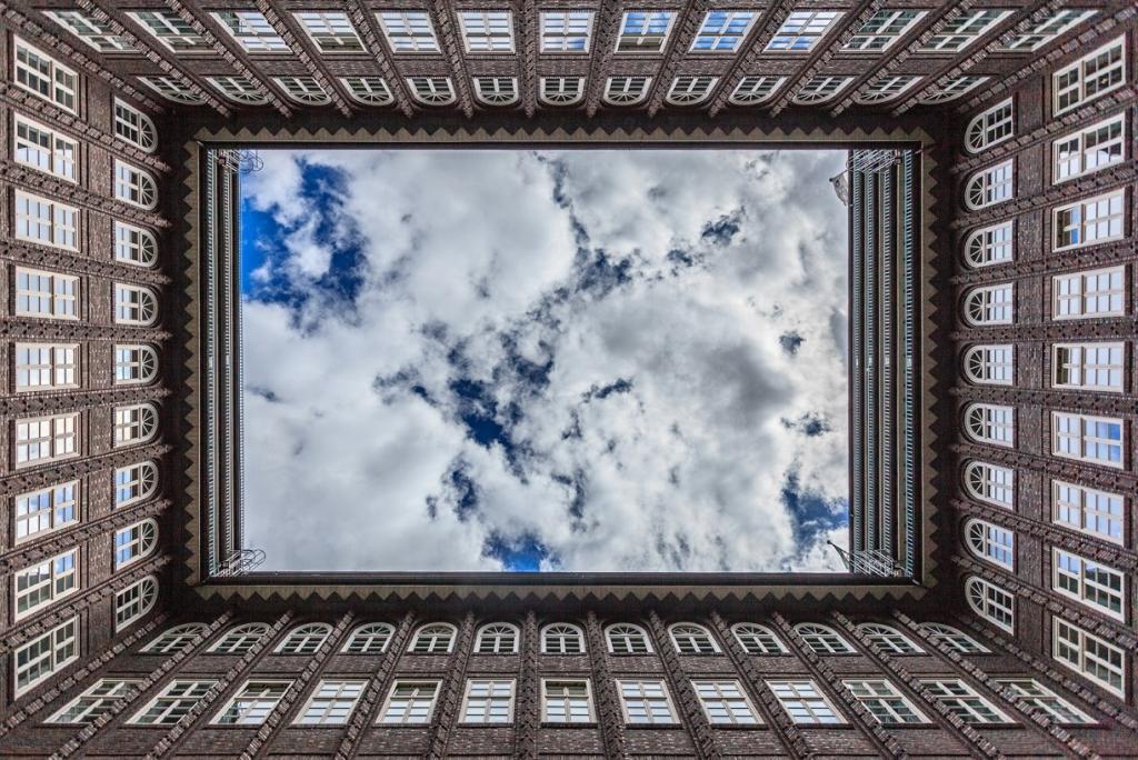 Obraz Průhled na oblohu, 90x60 cm