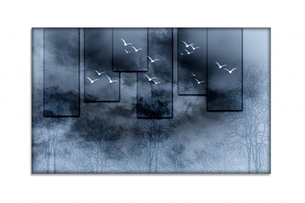 Obraz Racci v černu, 150x90 cm