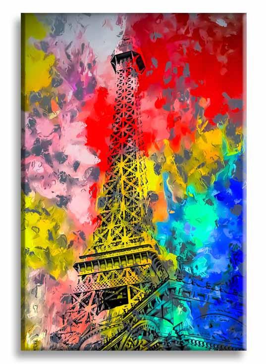 Obraz reprodukce Eiffelovka, 80x120 cm