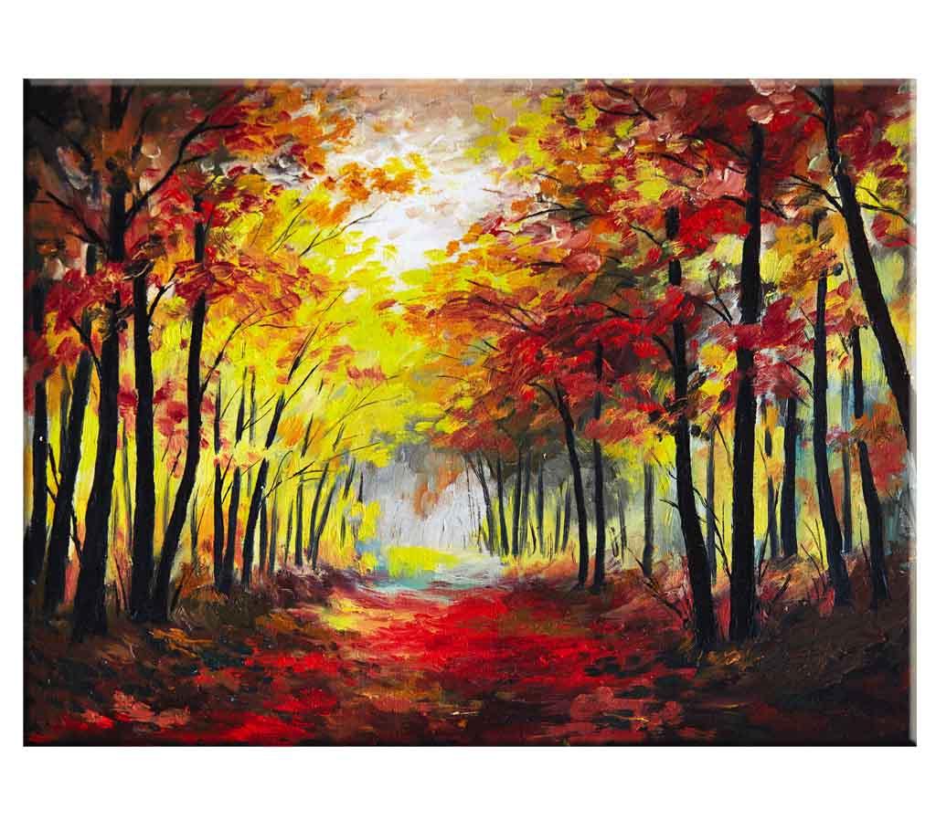 Obraz reprodukce Les na podzim, 80x60 cm