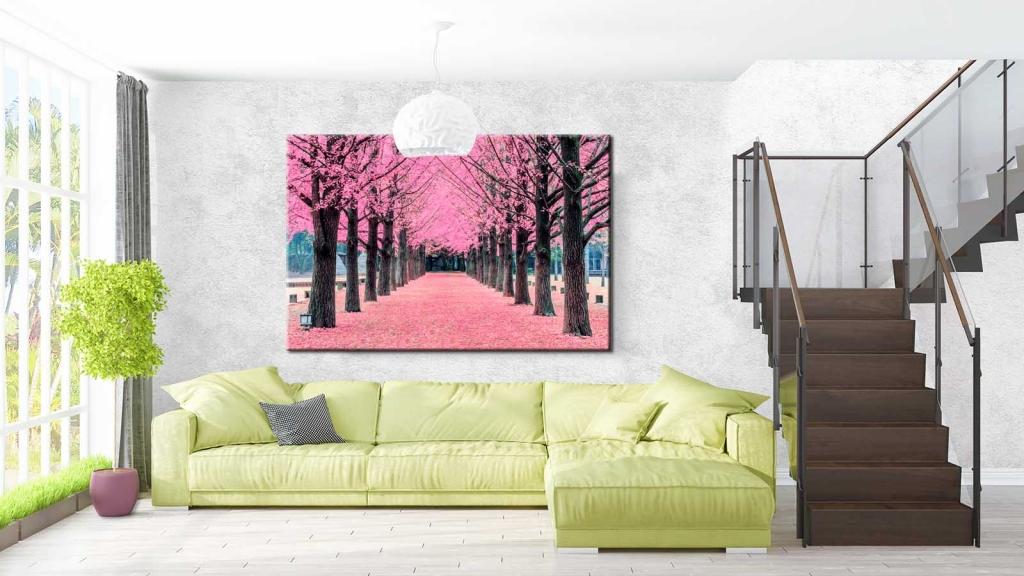 Obraz Růžová alej, 90x60 cm