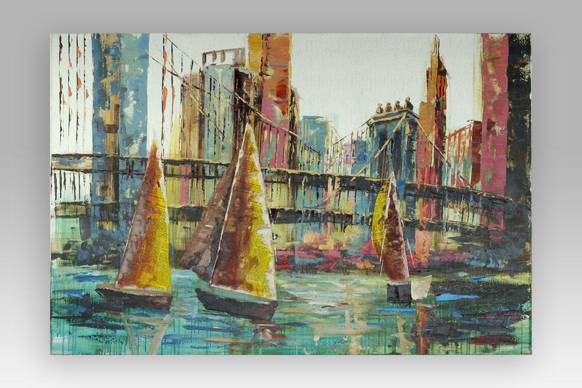 Obraz Sailing boats, 120 cm, olej na plátně